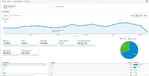 Standard Google Analytics Dashboard